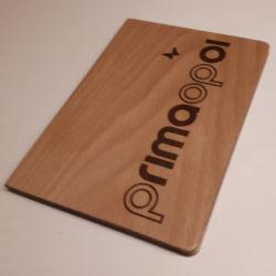 Porta conto a libro personalizzato legno di faggio