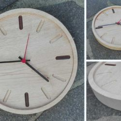 Orologio in castagno realizzato al cnc .30 diametro